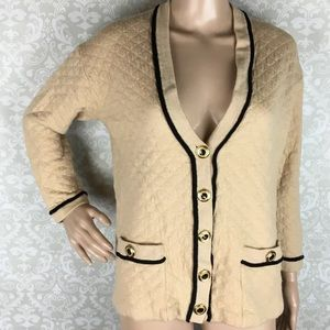 St. John quilted cardigan sweater